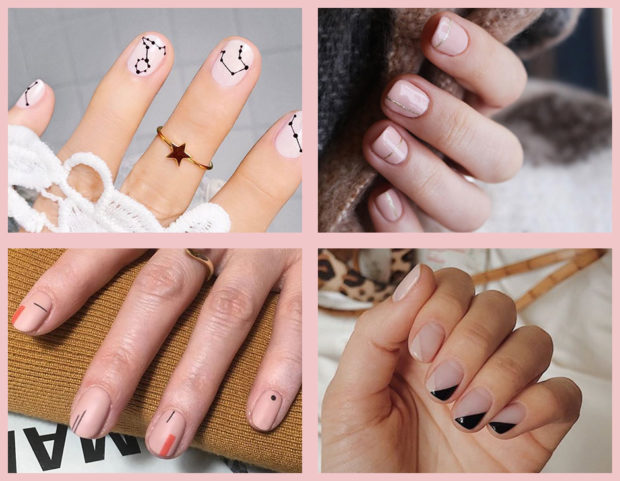 Le nail art minimali sono le nostre preferite perché chic ed essenziali! Sfoglia la gallery per scoprire le ispirazioni più belle, tutte da copiare! (Photo credits: instagram @thehangedit, @mytownhouseuk, @corneliapurple_official, @anna.pogribnyak, collage di Francesca Merlo)