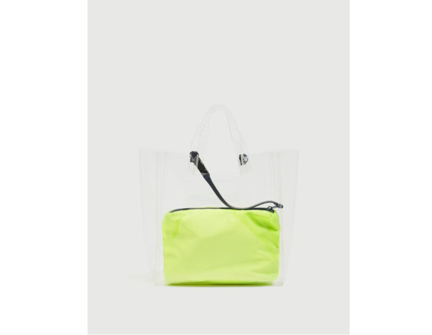 Shopper vinile borsetta interna fosforescente