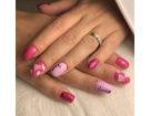 Nail art rosa fuchsia