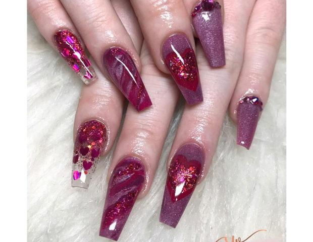 Particolare nail art per San Valentino