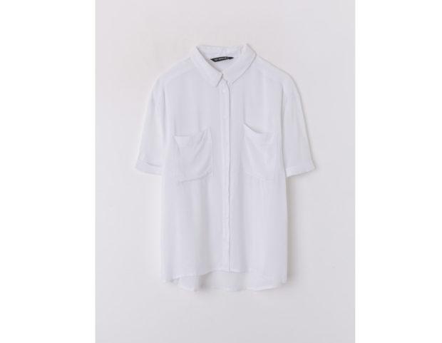 Camicia morbida bianco ottico