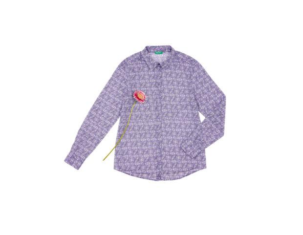 Camicia stampata 100% cotone