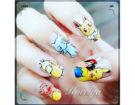 Nail art con personaggi dei Pokemon. Photo credit: Instagram @kureiyanails