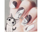 La nail art perfetta per chi ama i gatti. Photo credit: Instagram @panitygryskowa