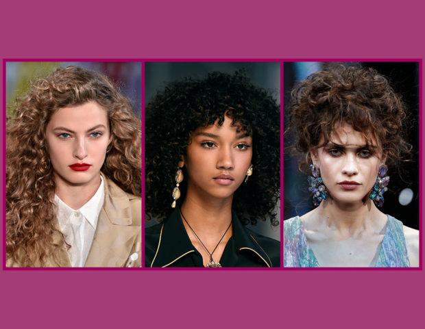 Vuoi scoprire quali sono le tendenze per i capelli ricci della Primavera Estate 2019? Sfoglia la gallery e scegli il tuo taglio di capelli preferito! (Collage di Francesca Merlo)