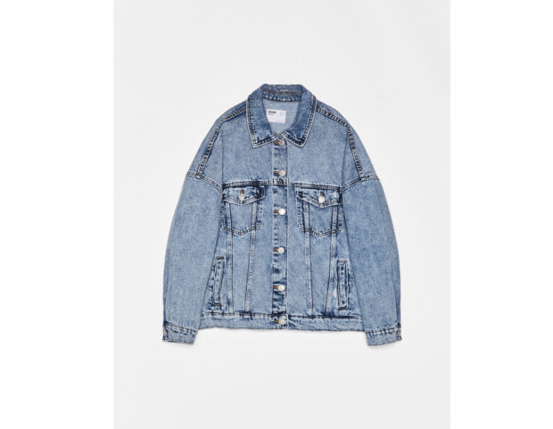 Giubbotto in denim oversize