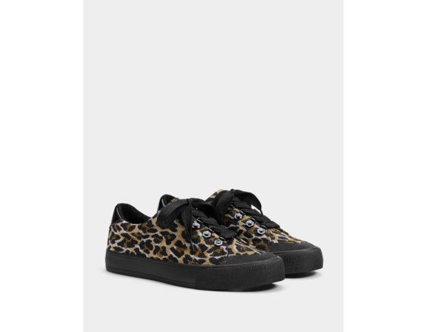 Sneakers con stampa animalier leopardo