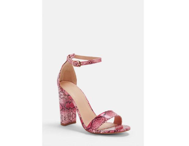 Sandali con stampa pitonata