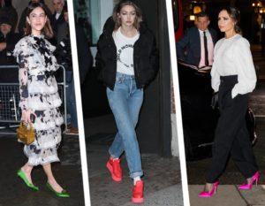 Scarpe fluo: décolleté, sandali e sneakers effetto neon-glam