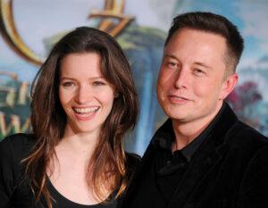 "Elon Musk con l'attrice Talulah Riley alla premiere di Los Angeles ""Oz The Great and Powerful"""