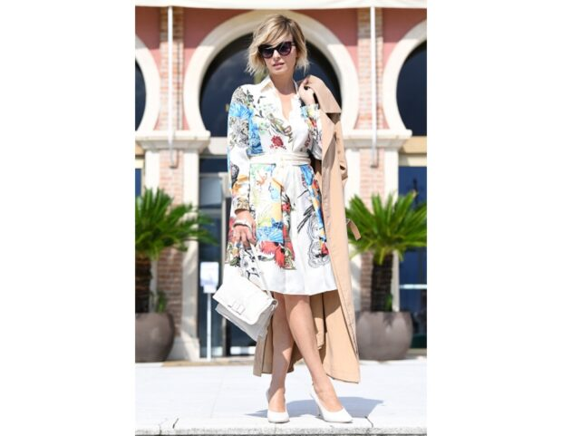 VIOLANTE PLACIDO total look Salvatore Ferragamo