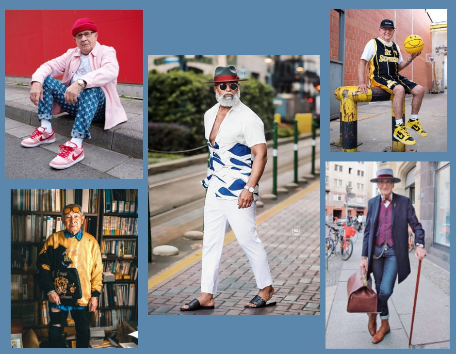 Fashion influencer over 60