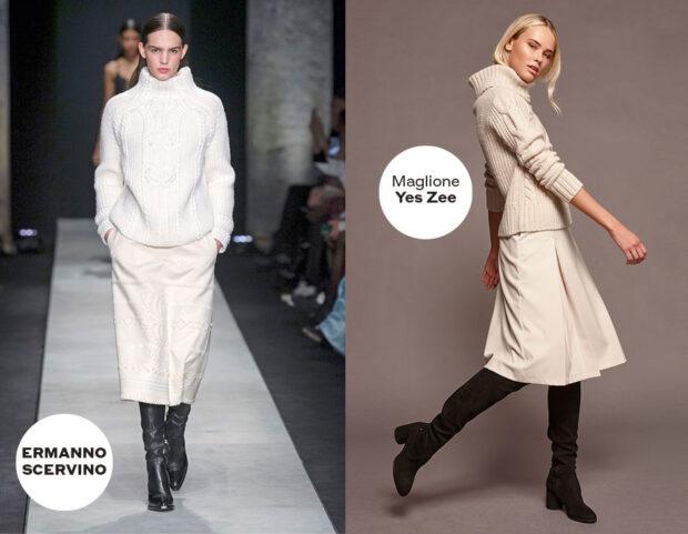 il maglione bianco in autunno