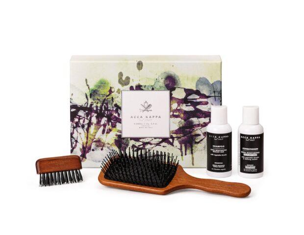 set-regalo-hair-brush-collection-muschio-bianco-shampoo-balsamo-spazzola-kotibè-pulisci-spazzola-kotibè-1312-acca-kappa