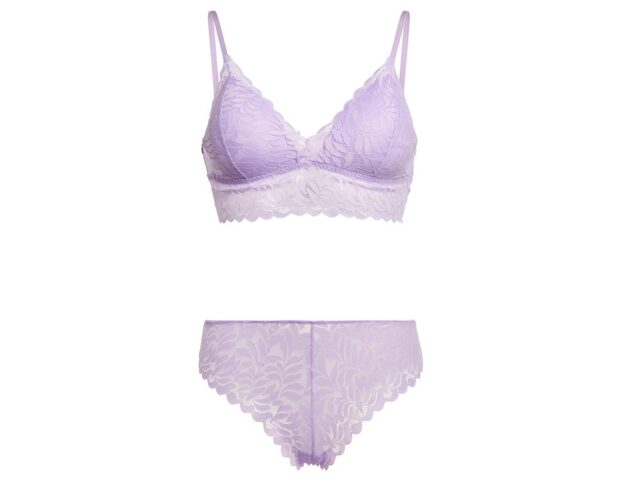PRIMARK_SS21_6177848-01-Lilac Leaf Lace Bralette And Briefs Set, �5, €6, �7, PLN 26