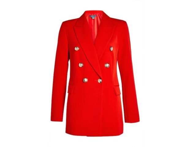 Primark_SS21_Red Double Breasted Power Blazer Jacket €30,