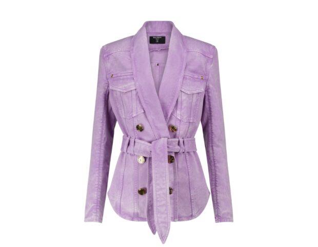 giacca in denim balmain pe21