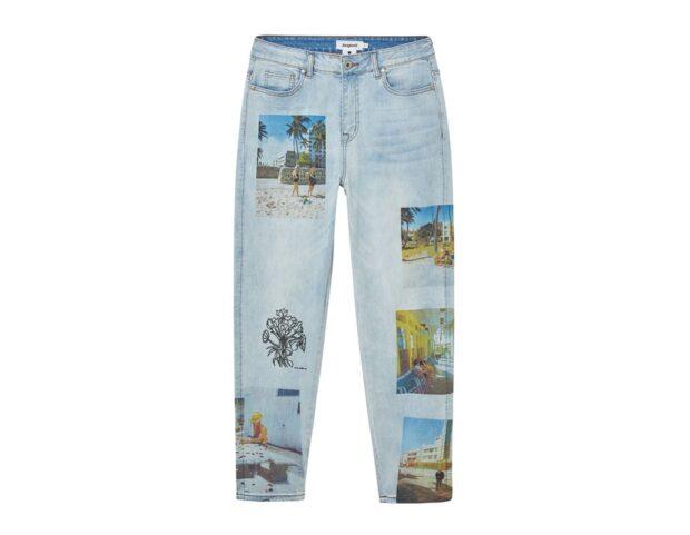 Desigual x Esteban Cortazar SS21_Jeans dritti unisex South Beach
