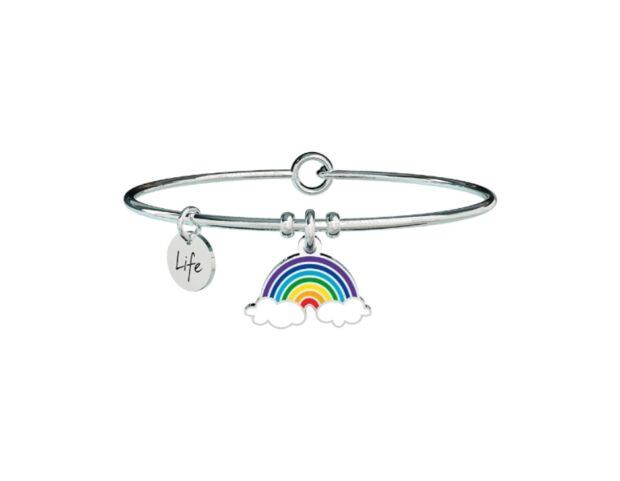 bracciale con charms arcobaleno Kidult