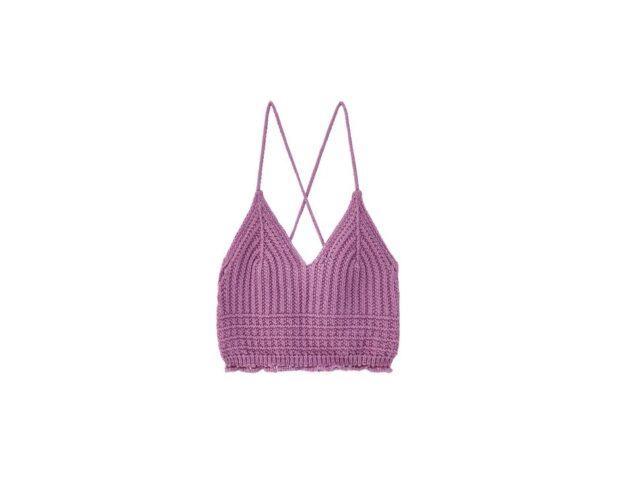 pull and bear top crochet