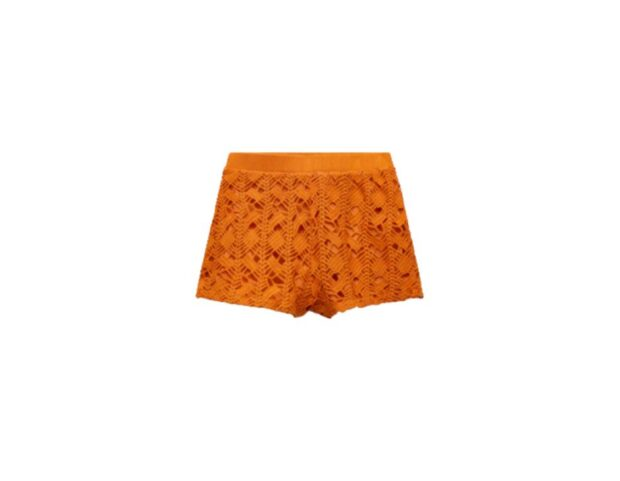 zara shorts crochet