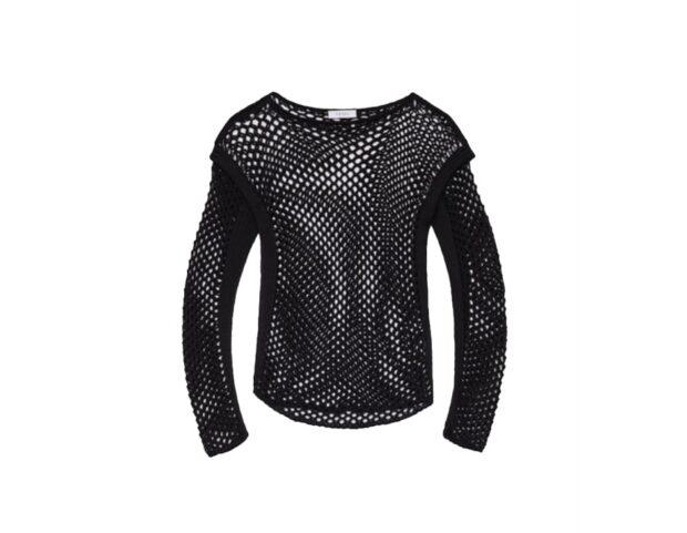 Tesei- maglia nera crochet