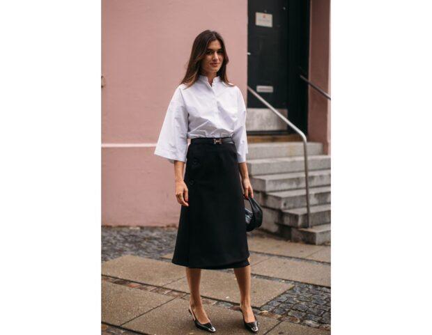 Copenhagen street style PE22 look bianco nero