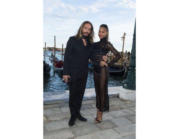 Zoe Saldana & Marco Perego